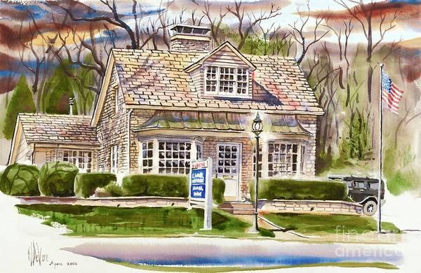 The Greystone Inn In Brigadoon Art Print featuring the painting The Greystone Inn In Brigadoon by Kip DeVore