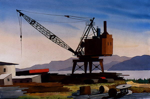 Crane Art Print featuring the painting The Oldcrane by Faye Ziegler