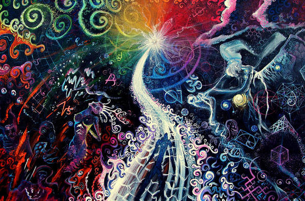 Path Art Print featuring the painting The Path To Enlightenment by Steve Griffith