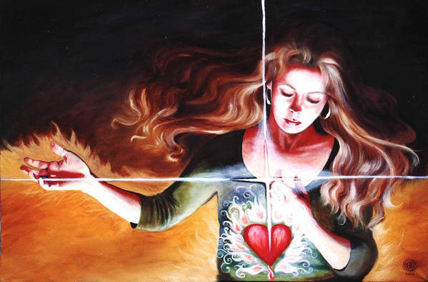 Christian Art Print featuring the painting The Stirring by Teresa Carter