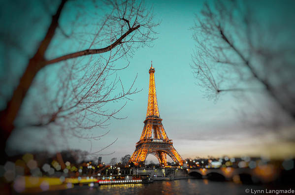 Eiffel Tower Art Print featuring the photograph Eiffel Tower At Twilight by Lynn Langmade