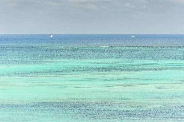 Vacation Art Print featuring the photograph Two Sailboats In The Bahamas by Anthony Doudt