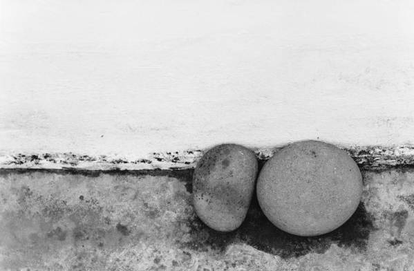 Abstract Art Print featuring the photograph Two Stones - Sao Miguel - Azores by Henry Krauzyk