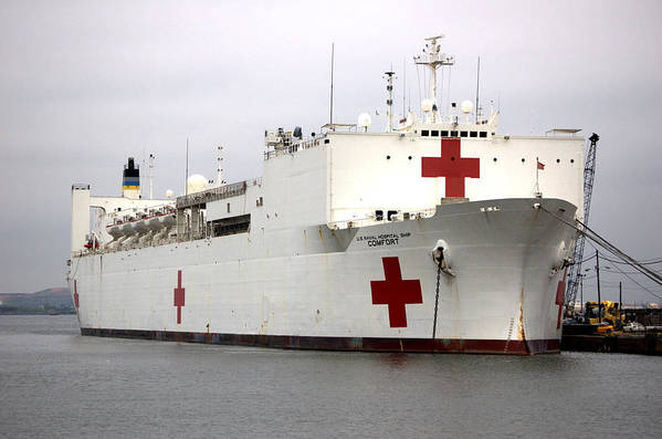 Ship Art Print featuring the photograph Usns Comfort Baltimore Maryland by Wayne Higgs