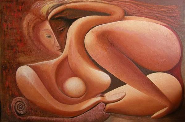 Venus Art Print featuring the painting Venus by Mushtaq Bhat