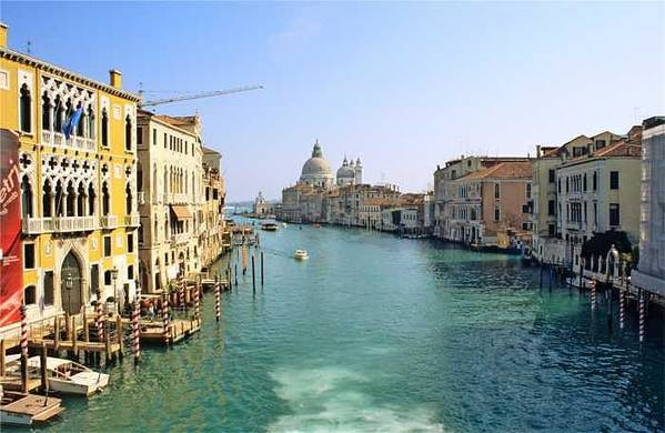Venice Art Print featuring the photograph View Of Grand Canal In Venice From Accadamia Bridge by Michael Henderson