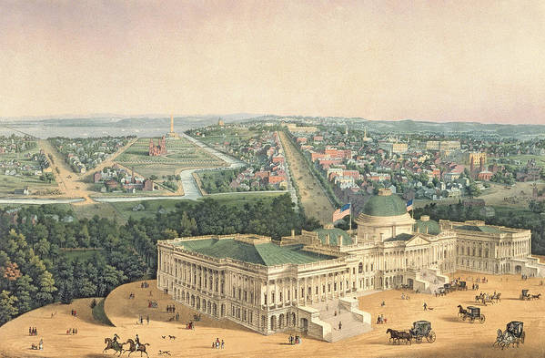 View Of Washington Art Print featuring the painting View Of Washington Dc by Edward Sachse