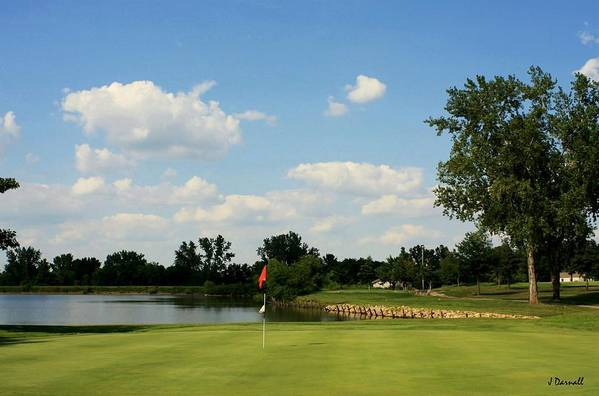 Golf Art Print featuring the photograph Village Greens Hole 16 by Jim Darnall