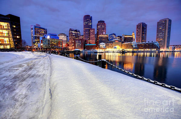 Boston Art Print featuring the photograph Winter In Boston by Denis Tangney Jr