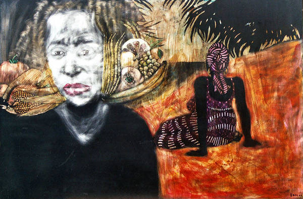 Art Print featuring the mixed media Waiting by Chester Elmore