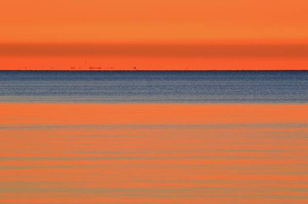 Abstract Art Print featuring the photograph Waiting For The Sun by Lyle Crump