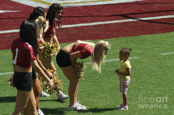 Future Cheerleader Art Print featuring the photograph When I Grow Up. by Allen Simmons