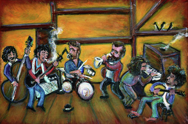 The Band Print featuring the painting When I Paint My Masterpiece by Jason Gluskin