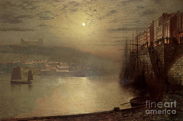 Whitby Art Print featuring the painting Whitby by John Atkinson Grimshaw