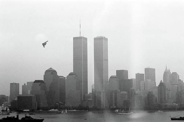 New Print featuring the photograph World Trade Center And Opsail 2000 July 4th Photo 18 B2 Stealth Bomber by Sean Gautreaux