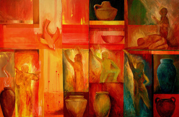 Worship Art Print featuring the painting Worship by Jun Jamosmos