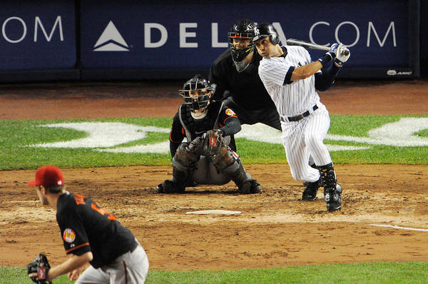 American League Baseball Art Print featuring the photograph Derek Jeter 1 by New York Daily News
