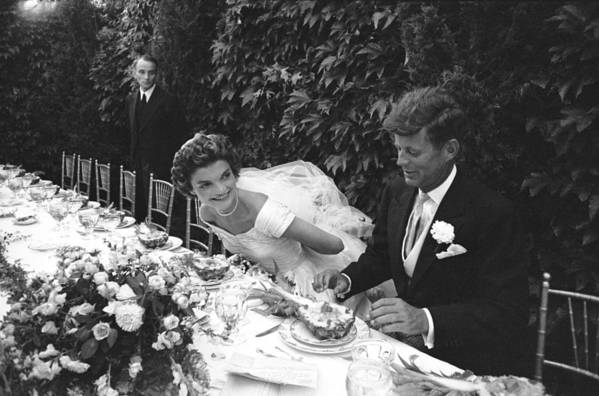 Timeincown Art Print featuring the photograph John F. Kennedy And Jacqueline Kennedy 1 by Lisa Larsen