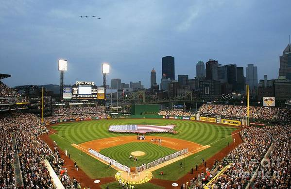 People Art Print featuring the photograph 77th Mlb All-star Game by Jamie Squire
