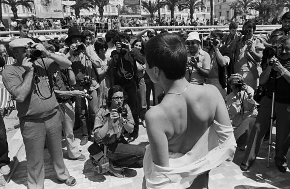 Film Festival Art Print featuring the photograph Cannes Film Festival Paparazzi In Action by George Rose