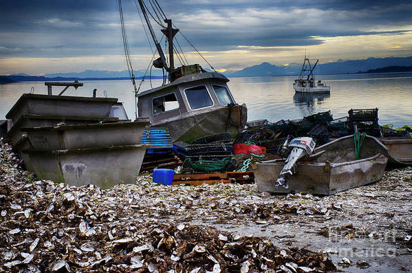 Boat Art Print featuring the photograph Coastal Fishing Vancouver Island by Bob Christopher