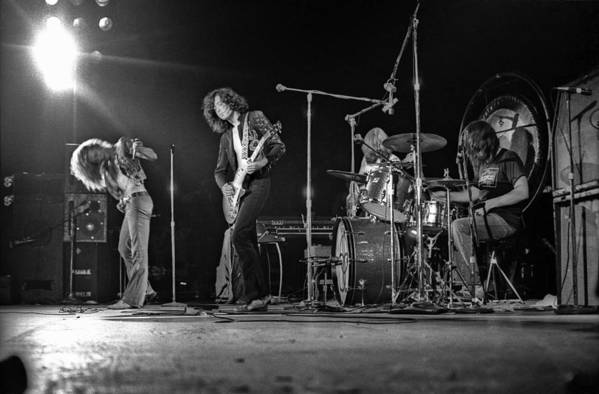 Performance Art Print featuring the photograph Led Zeppelin At The Forum by Michael Ochs Archives