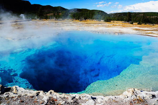 Heat Art Print featuring the photograph Sapphire Pool,yellowstone National by Wizard8492