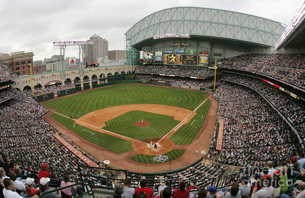 Minute Maid Park Art Print featuring the photograph St. Louis Cardinals V Houston Astros by Ronald Martinez