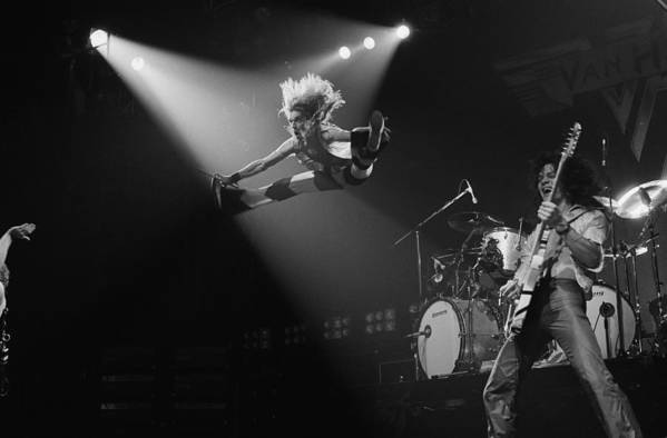 Singer Art Print featuring the photograph Van Halen At The Rainbow by Fin Costello