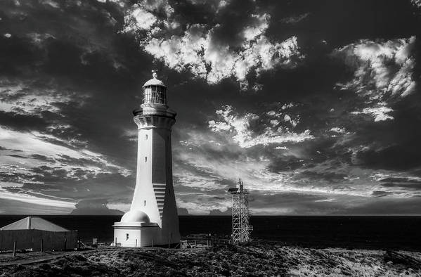 Green Cape Lighthouse Art Print featuring the photograph Green Cape Lighthouse At Sunset by Bernard Spragg