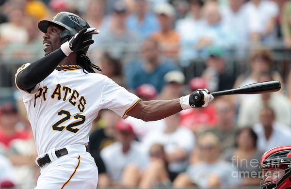 Pnc Park Art Print featuring the photograph Andrew Mccutchen by Jared Wickerham