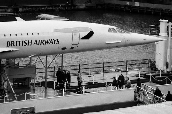 Usa Art Print featuring the photograph British Airways Concorde Exhibit At The Intrepid Sea Air Space Museum by Joe Fox