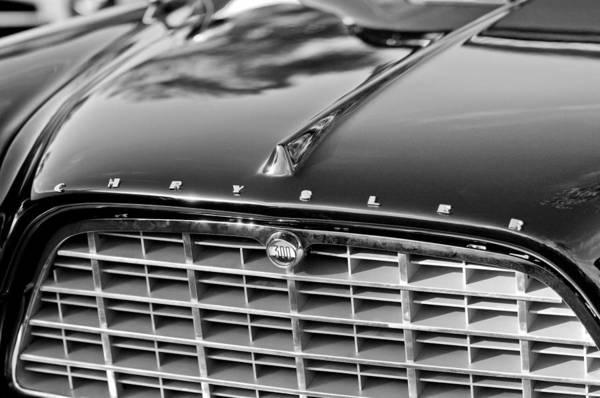 1957 Chrysler 300c Grille Emblem Art Print featuring the photograph 1957 Chrysler 300c Grille Emblem by Jill Reger
