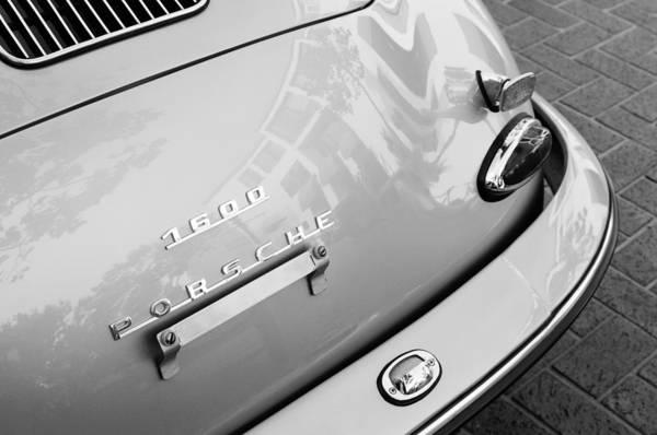1960 Porsche 356 B 1600 Super Roadster Rear Emblem - Taillight Print featuring the photograph 1960 Porsche 356 B 1600 Super Roadster Rear Emblem - Taillight by Jill Reger