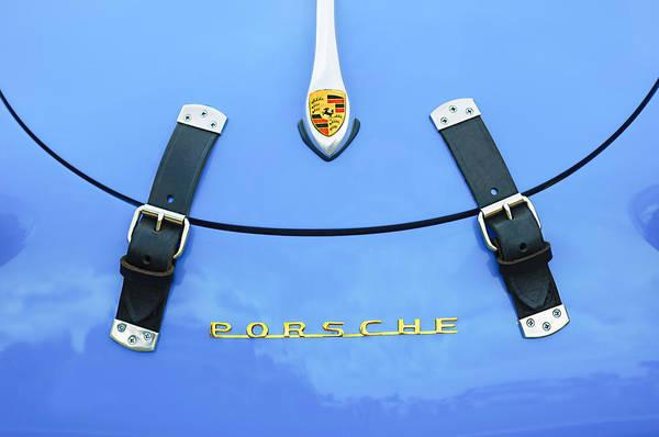 1960 Volkswagen Vw Porsche 356 Carrera Gs-gt Replica Hood Ornament Art Print featuring the photograph 1960 Volkswagen Vw Porsche 356 Carrera Gs-gt Replica Hood Ornament by Jill Reger