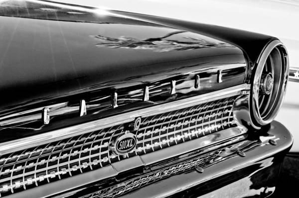 1963 Ford Galaxie 500xl Taillight Emblem Art Print featuring the photograph 1963 Ford Galaxie 500xl Taillight Emblem by Jill Reger