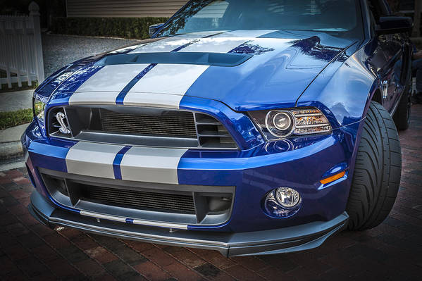 2013 Ford Mustang Art Print featuring the photograph 2013 Ford Mustang Shelby Gt 500 by Rich Franco