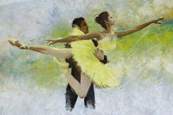 Ballet Dancer Art Print featuring the painting Belly Dancers by Corporate Art Task Force
