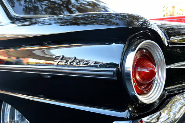1963 Ford Falcon Print featuring the photograph Black Falcon by David Lee Thompson