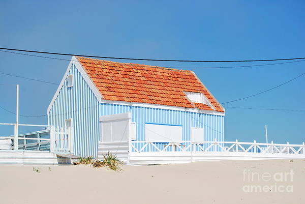 Architecture Art Print featuring the photograph Blue Fisherman House by Luis Alvarenga