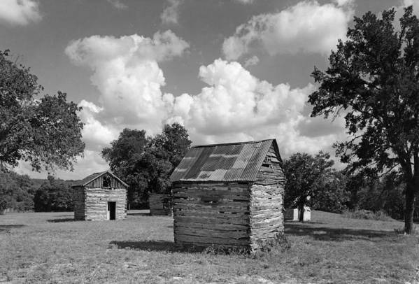 Bohls Cabins Art Print featuring the photograph Bohls Cabins At Bee Cave by Jim Smith