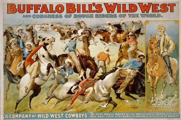 Buffalo Bills Wild West Art Print featuring the digital art Buffalo Bills Wild West by Unknown