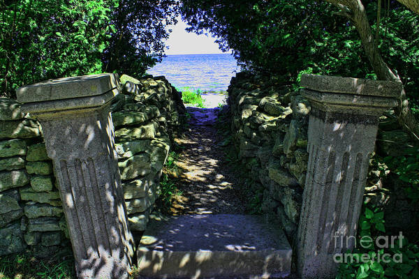 Cana Island Art Print featuring the photograph Cana Island Walkway Wi by Tommy Anderson