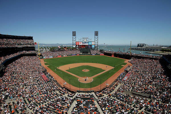 San Francisco Art Print featuring the photograph Chicago Cubs V San Francisco Giants by Ezra Shaw