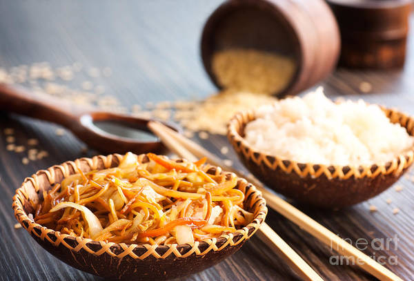 Appetizer Print featuring the photograph Chinese Food by Mythja Photography