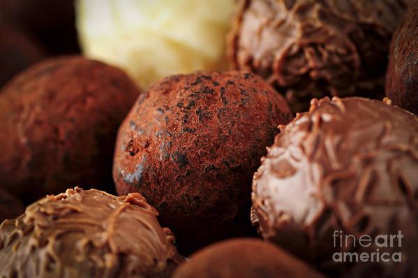 Chocolate Art Print featuring the photograph Chocolate Truffles by Elena Elisseeva
