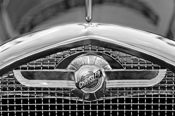 Chrysler Grille Emblem Art Print featuring the photograph Chrysler Grille Emblem by Jill Reger