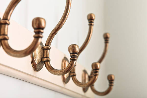 Accessory Art Print featuring the photograph Coat Hooks by Tom Gowanlock