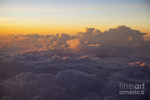 Above Art Print featuring the photograph Colorful Clouds by Brian Jannsen