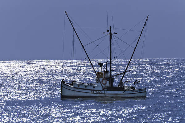 Commercial Fishing Boat Art Print featuring the photograph Commercial Fishing Boat Dickey Byrd Out Of Half Moon Bay by Scott Lenhart